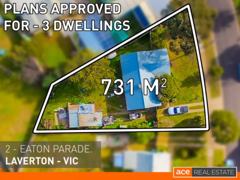 HUGE BLOCK WITH PLANS APPROVED FOR 3 DWELLINGS!