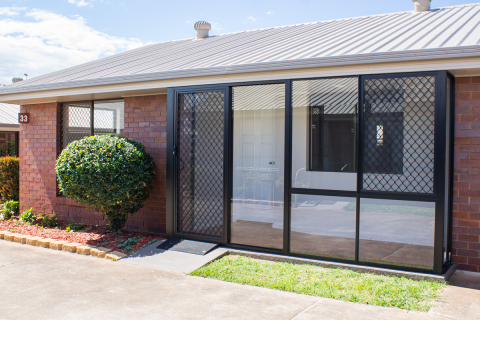 Unit 33 – garage and enclosed patio