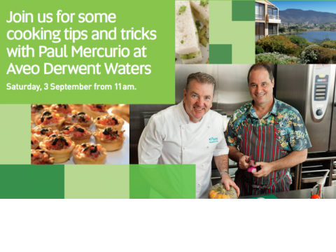 Join us at Aveo Derwent Waters for brunch with celebrity chef Paul Mercurio
