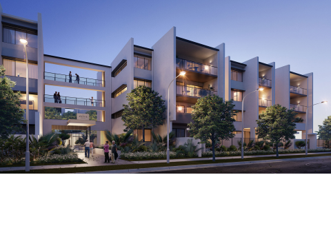 Ground floor apartment with a large courtyard right near the river - The Avenue Maroochydore