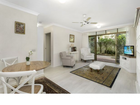 Garden apartment in highly sought-after