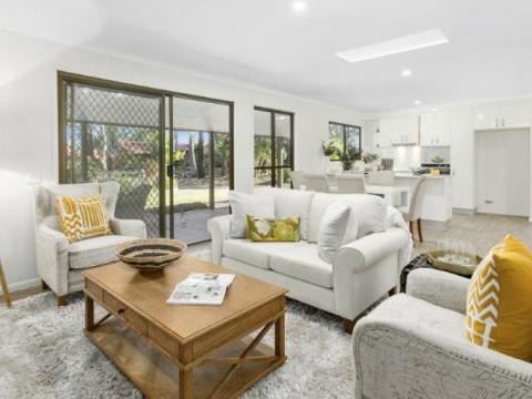 Luxury retirement unit with garden views
