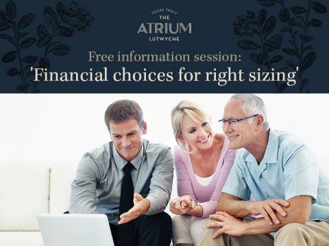 Free information session: 'Financial choices for right sizing'